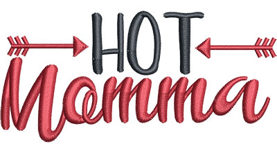 Embroidery Design: Hot Momma Med 4.01w X 1.91h