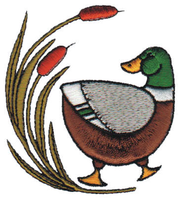 """Embroidery Design: Duck2.75"""" x 3.02"""""""