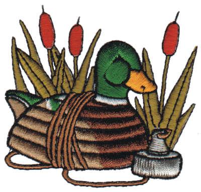 "Embroidery Design: Decoy Duck3.00"" x 2.85"""
