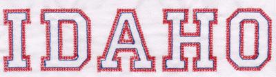 "Embroidery Design: Idaho Name1.94"" x 7.95"""