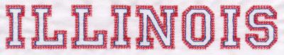 """Embroidery Design: Illinois Name1.34"""" x 8.01"""""""