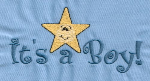 """Embroidery Design: It's A Boy!4.99"""" x 2.42"""""""