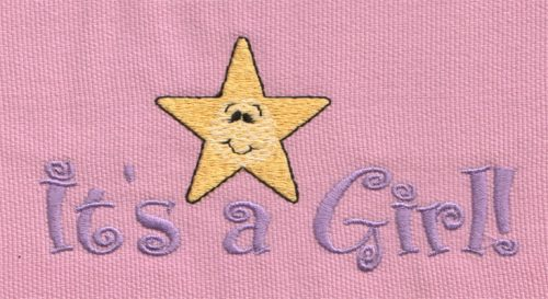 "Embroidery Design: It's A Girl!4.97"" x 2.42"""