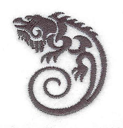 Embroidery Design: Iguana 1.69w X 1.91h