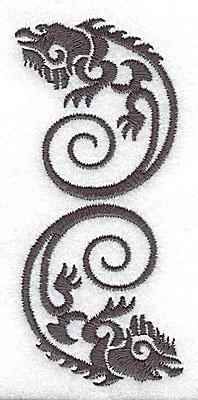 Embroidery Design: Iguana two 1.69w X 3.85h