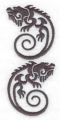 Embroidery Design: Iguana two 1.69w X 3.86h