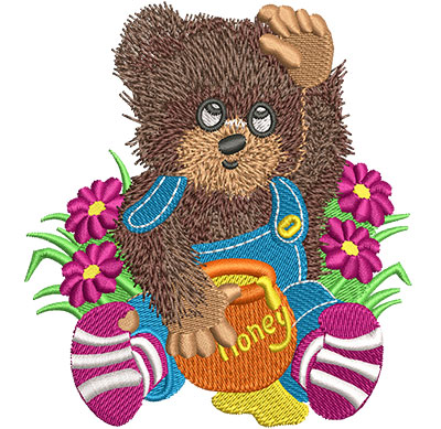 Embroidery Design: Honey Bear Med 3.64w X 4.00h