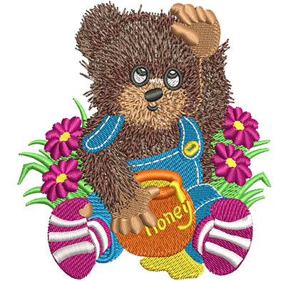 Embroidery Design: Honey Bear Sm 3.19w X 3.50h