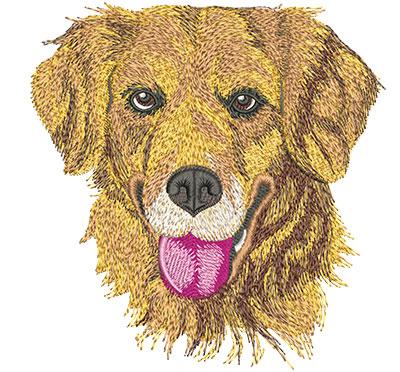 Embroidery Design: Golden Retriever Face Lg 5.90w X 6.10h