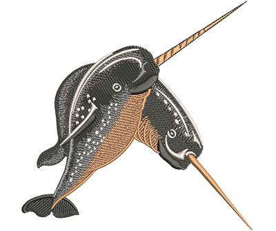 Embroidery Design: Narwhals Lg 5.50w X 5.48h