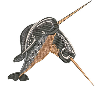 Embroidery Design: Narwhals Med 5.00w X 4.98h