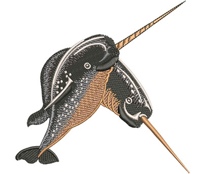 Embroidery Design: Narwhals Sm 4.50w X 4.49h