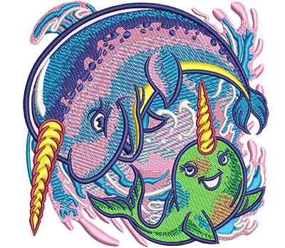 Embroidery Design: Narwhal Med 4.02w X 4.02h