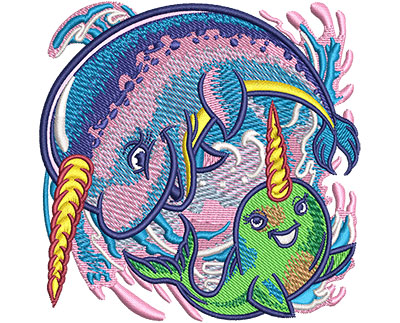 Embroidery Design: Narwhal Sm 3.52w X 3.52h