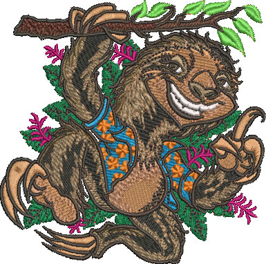 Embroidery Design: Sloth Sm 4.01w X 3.99h