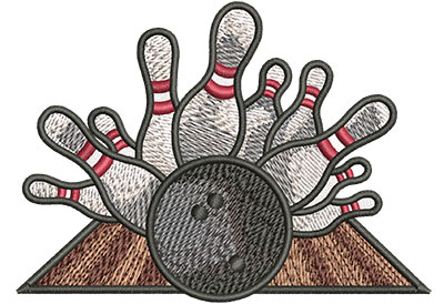 Embroidery Design: Bowling Crash Med 4.01w X 2.92h