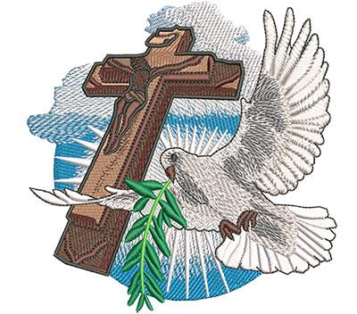 Embroidery Design: Dove Flight Med 4.99w X 5.02h