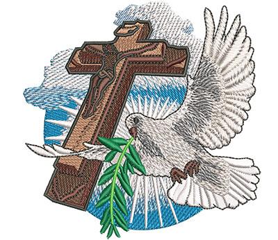 Embroidery Design: Dove Flight Sm 4.00w X 4.02h
