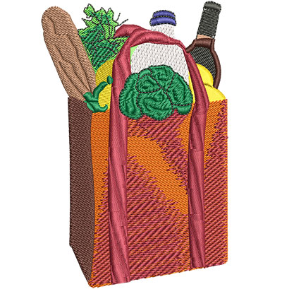 Embroidery Design: Grocery Bag Lg 2.95w X 4.51h
