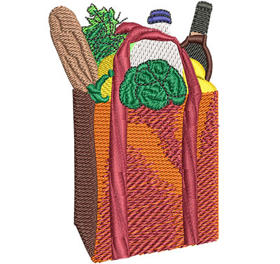 Embroidery Design: Grocery Bag Sm 2.29w X 3.51h