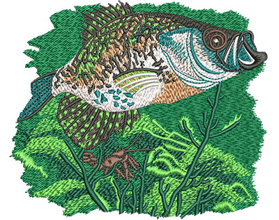 Embroidery Design: Crappie Branch Lg 5.94w X 5.07h