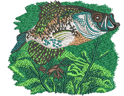 Embroidery Design: Crappie Branch Sm 3.97w X 3.36h
