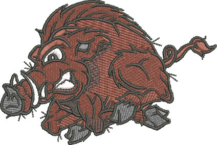 Embroidery Design: Wild Boar Lg 4.42w X 2.97h