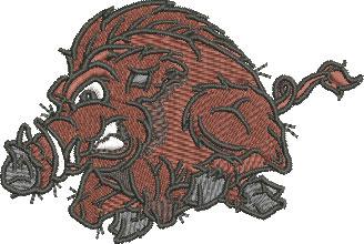 Embroidery Design: Wild Boar Sm 3.42w X 2.30h