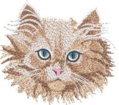 Embroidery Design: White Kitten Face Lg 4.55w X 4.11h