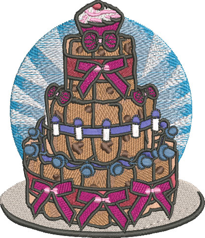 Embroidery Design: Baby Diaper Cake Med 4.35w X 5.04h