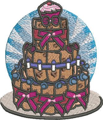 Embroidery Design: Baby Diaper Cake Sm 3.49w X 4.04h