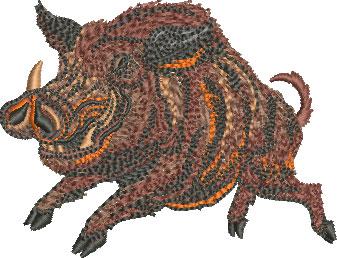 Embroidery Design: Running Razorback Sm 3.52w X 2.70h