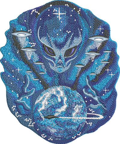 Embroidery Design: Alien Master Lg 6.54w X 7.86h