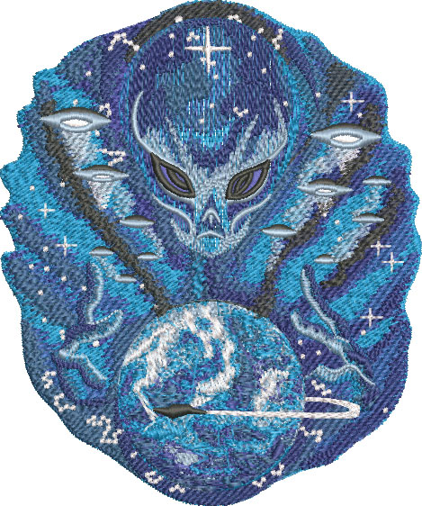 Embroidery Design: Alien Master Sm 4.89w X 5.86h