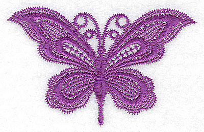 Embroidery Design: Butterfly 4.03w X 2.55h