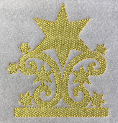 Embroidery Design: Christmas Trapunto Star  4.51w X 5.02h