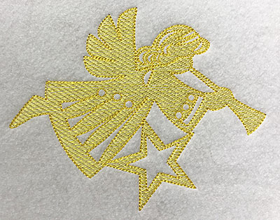 Embroidery Design: Christmas Trapunto Angel 5.66w X 4.51h