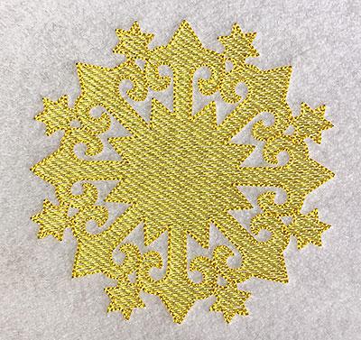 Embroidery Design: Christmas Trapunto Snowflake 4.54w X 4.54h