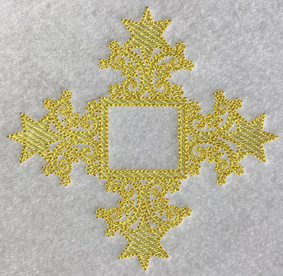 Embroidery Design: Christmas Trapunto Embellishment 4.62w X 4.51h