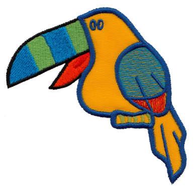 """Embroidery Design: Toucan Applique3.43"""" x 3.42"""""""