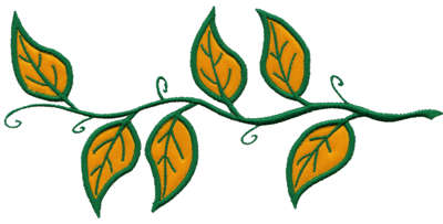 "Embroidery Design: Vines Applique8.25"" x 3.96"""