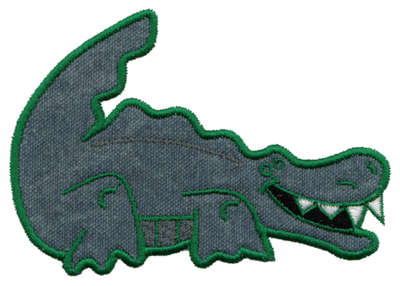 "Embroidery Design: Alligator Applique4.36"" x 3.04"""