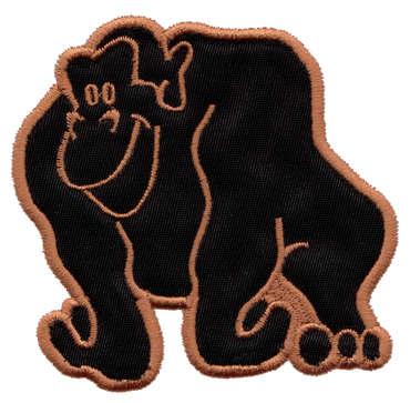 """Embroidery Design: Gorilla Applique3.30"""" x 3.24"""""""