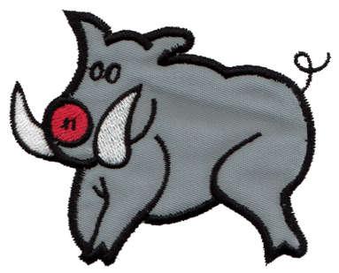 """Embroidery Design: Wild Boar Applique3.47"""" x 2.77"""""""