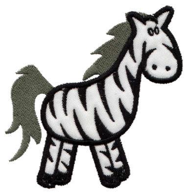 "Embroidery Design: Zebra Applique3.43"" x 3.73"""