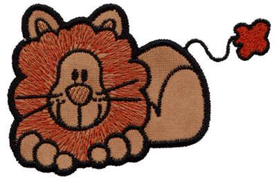 """Embroidery Design: Lion Applique3.97"""" x 2.65"""""""