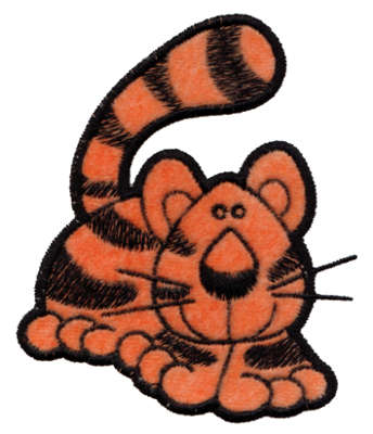 "Embroidery Design: Tiger Applique3.17"" x 3.77"""