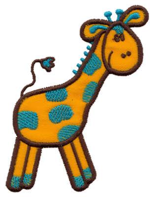 "Embroidery Design: Giraffe Applique2.83"" x 4.01"""