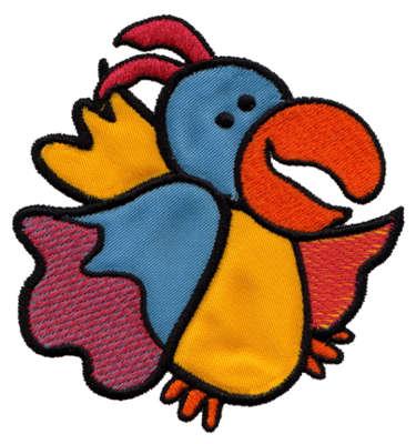 """Embroidery Design: Parrot Applique3.65"""" x 3.88"""""""