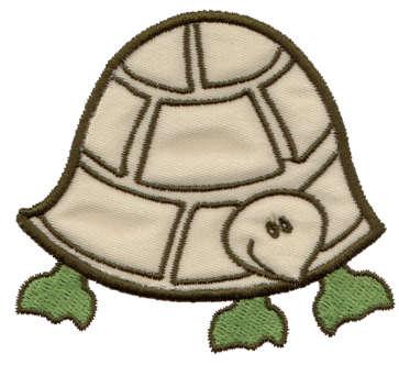 "Embroidery Design: Turtle Applique3.34"" x 3.02"""